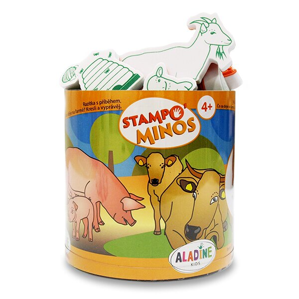 Razítka Aladine Stampo Minos - Zvířátka na farmě 23 razítek