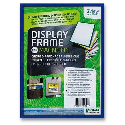 Obrázek produktu Tarifold Display Frame - magnetický prezentační rámeček - A4, 1 ks, modrý
