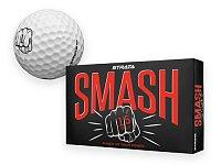 STRATA SMASH - golfový míč 2 vrstvý, baleno v krabičce po 15 ks, STRATA, bílá