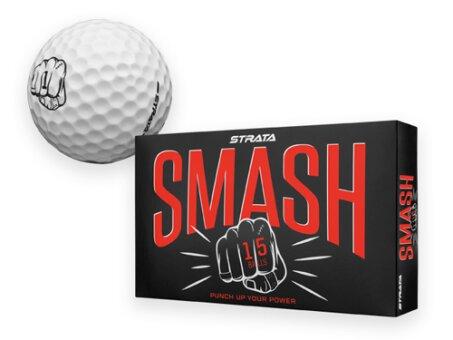 Obrázek produktu STRATA SMASH - golfový míč 2 vrstvý, baleno v krabičce po 15 ks, STRATA, bílá