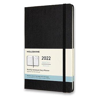 Obrázek produktu Diář Moleskine 2022 - tvrdé desky - L, měsíční, černý