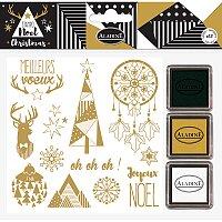 Razítka Stampo Nöel Aladine - Zlaté Vánoce