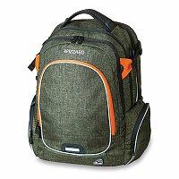 Školní batoh Walker Campus Wizzard Olive Melange