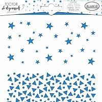 Pochoir Textile - Hvězdy a trojúhelníky