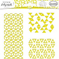 Pochoir Textile - Geometrie Trio