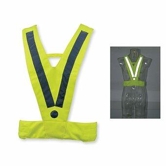 Obrázek produktu ATILA II - polyesterová reflexní vesta, dospělá velikost, žlutá