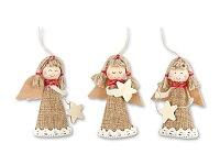 ANYELA MIX - vánoční ozdoba anděl, přírodní