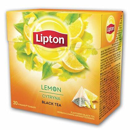 Obrázek produktu Lipton Lemon Tea - černý čaj pyramida - 20 x 1,7 g