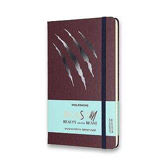 Obrázek produktu Zápisník Moleskine Kráska a zvíře - tvrdé desky - L, linkovaný, vínový