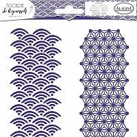 Pochoir Textile - Duo japonská geometrie