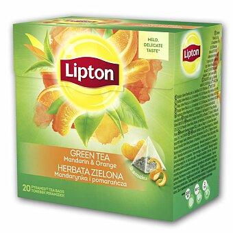 Obrázek produktu Zelený čaj pyramida Lipton Mandarin Orange - 20 sáčků