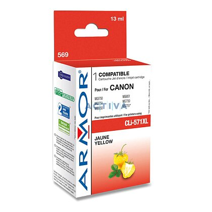 Obrázek produktu Armor - cartridge CLi571XL yellow (žlutá), 13 ml pro inkoustové tiskárny