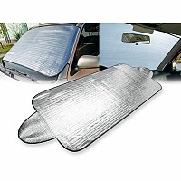 SHIELD - aluminiová ochranná fólie na čelní sklo auta, stříbrná