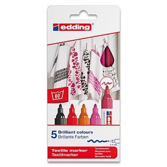 Obrázek produktu Popisovač Edding na textil 4500 - červené odstíny, 5 barev