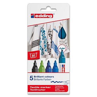 Obrázek produktu Popisovač Edding na textil 4500 - modré odstíny, 5 barev