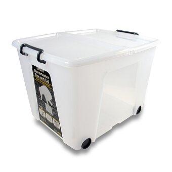 Obrázek produktu Úložný box s víkem CEP Strata s kolečky - 485 x 600 x 415 mm, objem 75 l