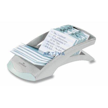 Obrázek produktu Durable Telindex Desk - kartotéka na vizitky - stříbrná