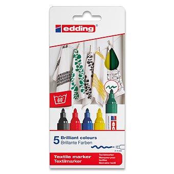 Obrázek produktu Popisovač Edding na textil 4500 - 5 základních barev