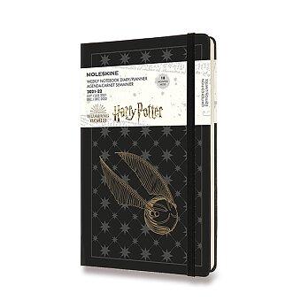 Obrázek produktu 18měsíční diář Moleskine 2021-22 Harry Potter - tvrdé desky - L, týdenní, černý