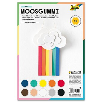 Obrázek produktu Pěnovka Folia - 10 listů, mix barev