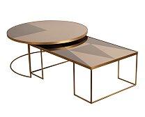 Konferenční stůl Notre Monde Geometric Bronze Coffee Table