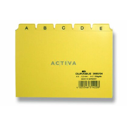 Obrázek produktu Durable - abecední rozlišovač A5 - žlutý