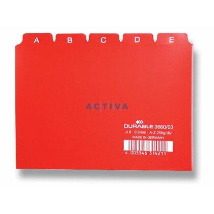 Obrázek produktu Durable - abecední rozlišovač A6 - červený