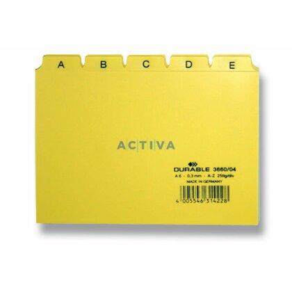 Obrázek produktu Durable - abecední rozlišovač A6 - žlutý