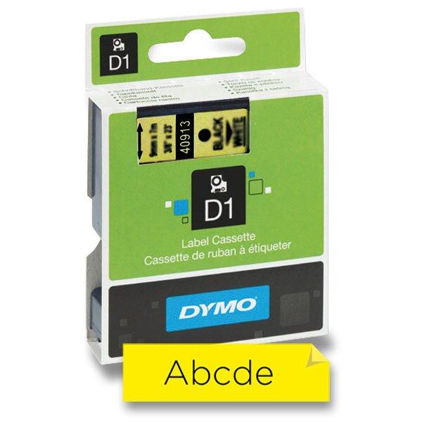 Samolepicí polyesterové pásky Dymo pro štítkovače černá / žlutá Dymo