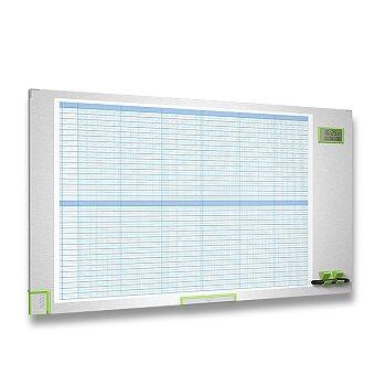 Obrázek produktu Kalendářní plánovací tabule - 105 x 60 cm, magnetická