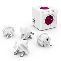 Cestovní adaptér PowerCube ReWirable USB+Travel Plugs