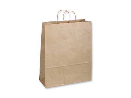 Obrázek produktu TWISTER NATURA III - papírová dárková taška, 32 × 13 × 42,5 cm, přírodní