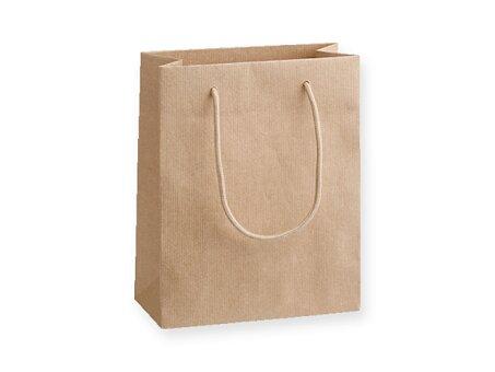 Obrázek produktu NATURA LUX - dárková papírová taška, 22 × 10 × 27,5 cm, přírodní