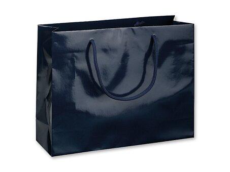 Obrázek produktu BLUE LUX III - dárková papírová taška, 32 × 10 × 27,5 cm, tmavě modrá