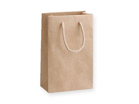 Obrázek produktu NATURA LUX - dárková papírová taška, 16 × 8 × 25 cm, přírodní