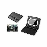 CARLET - organizér do auta s držákem na tablet z imitace kůže, černá
