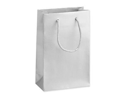 Obrázek produktu SILVER LUX - dárková papírová taška, 16 × 8 × 25 cm, stříbrná