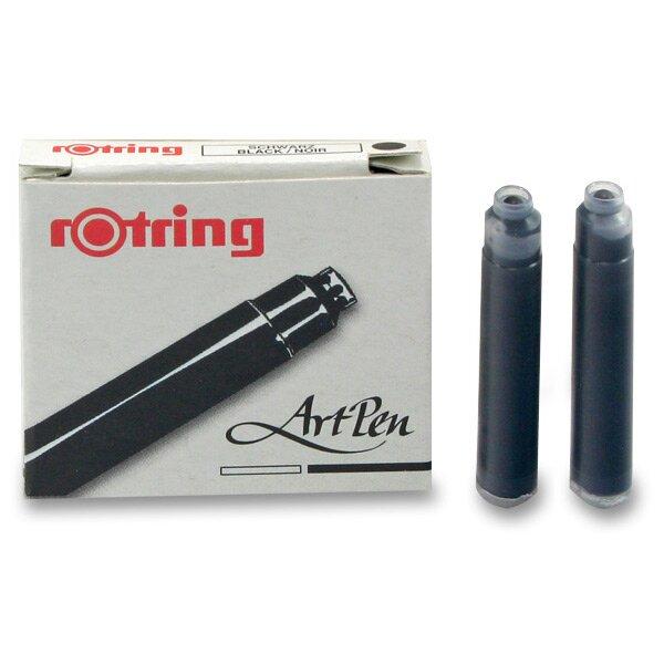 Inkoustové bombičky Rotring Art Pen černé, 6 ks