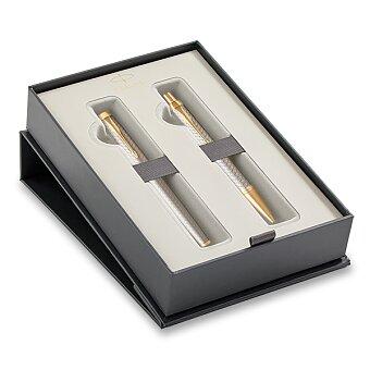 Obrázek produktu Parker  IM Premium Warm Grey GT - sada plnicí pero a kuličková tužka