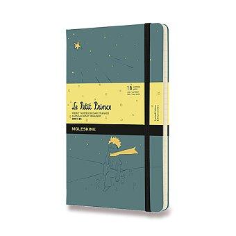 Obrázek produktu 18měsíční diář Moleskine 2021-22 Le Petit Prince - tvrdé desky - L, týdenní, zelený