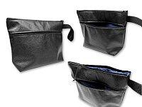 RADHINO - prostorná kosmetická taštička se dvěma kapsami na zip z eko-kůže, černá