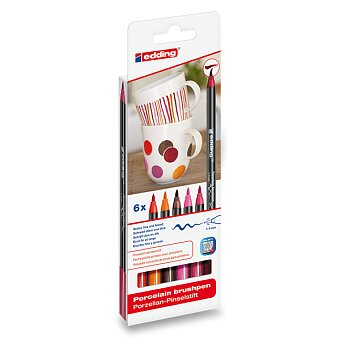 Obrázek produktu Popisovač Edding Porzellan 4200 - červené odstíny, 6 ks