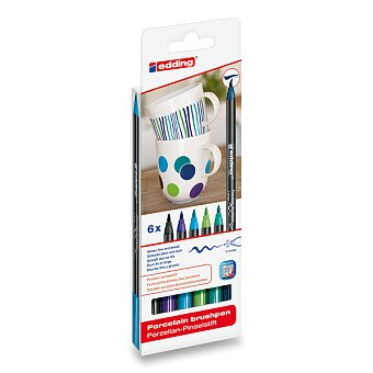 Obrázek produktu Popisovač Edding Porzellan 4200 - modré odstíny, 6 ks