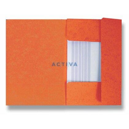 Obrázek produktu HIT Office - 3chlopňové desky - oranžové