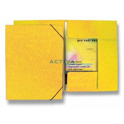 Obrázek produktu HIT Office - 3chlopňové desky s gumičkou - žluté