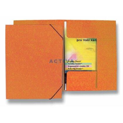 Obrázek produktu HIT Office - 3chlopňové desky s gumičkou - oranžové