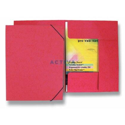 Obrázek produktu HIT Office - 3chlopňové desky s gumičkou - červené