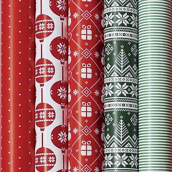 Obrázek produktu Dárkový balicí papír Christmas Red - 2 x 0,7 m, mix motivů