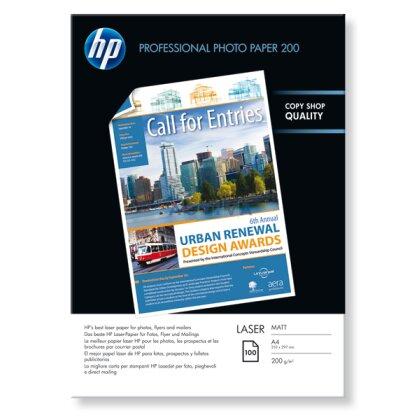 Obrázok produktu HP Laser Photo Paper - fotografický papier - A4, 200 g, 100 listov, matný
