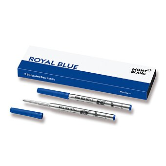 Obrázek produktu Náplň Montblanc do kuličkové tužky - M, 2 ks, royal blue